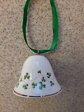 Royal Tara Shamrock design Bell bone china gold trim handmade Galway Ireland