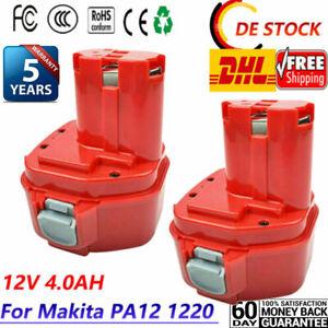 2× 4000mAh 12Volt AKKU Batterie Für Makita PA12 1220 1222 1233 1234 1235 1235F