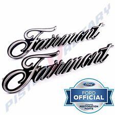 FAIRMONT Guard Badges x2 (PAIR) Chrome for XP XR XT Ford 351 Fender badge Grille