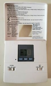 Braeburn 3000 Thermostat Single Stage H&C Gas Oil Electric - Includes Battery