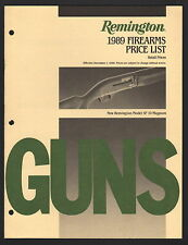 Remington Firearms Retail Price List - December 1, 1988