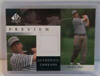 2001 Upper Deck SP Authentic Preview Threads Dudley Hart Rookie Golf CardDH-AT