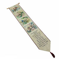 Songs of Spring Cardinals Bluejays Finch Tapestry Wall Hanging Bellpull w/Verse