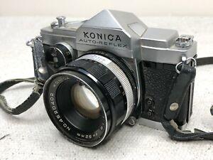 Konica Auto-Reflex Full & Half Frame Film SLR Camera With 52mm Lens