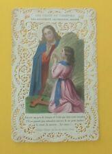 ANCIEN CANIVET / IMAGE PIEUSE / DENTELLE / LES CROIX DU CHRETIEN / JESUS CHRIST