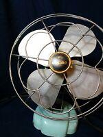 Vintage Mid Century Turquoise Eskimo 1100R Fan ~ Works ~ Rare