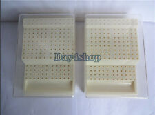 2pcs 168 Burs Dental Bur Block Holder Station with Lid  Plastic RA - FG Holds