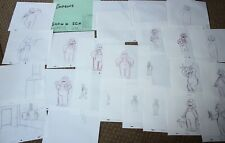 Rare The Simpsons Tv Show Original Storyboards Set Used Sketches Drawing 500