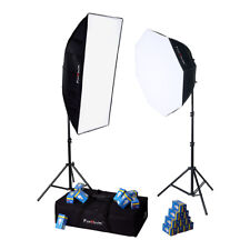 Fotodiox LED-955 Photo/Video Light Kit 2x Fixtures 1x Softbox 1x Octabox + Case
