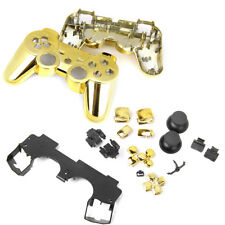 Metal Plated Full Housing Shell Case Button Kit for Sony PS3 Controller Gold