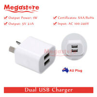 Dual USB Phone Wall Charger 5v 2.1A Power Adapter AU Universal Home Travel Power