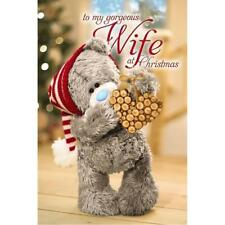 3d Holographic Me to You Tatty Teddy Cute Love Heart Christmas Card - Wife