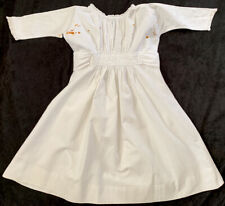 "Authentic Antique Dress From 34"" Bisque Head German Doll, French Seams, Estate"