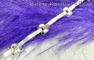 """1/4"""" wide 8 Link Sterling Silver 0.925 Estate 7"""" TENNIS BRACELET with LOBSTER"""