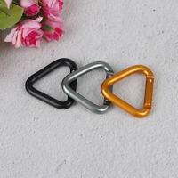 Triangle Carabiner Outdoor Camping Hiking Keychain Kettle Buckle Snap Clip CZ