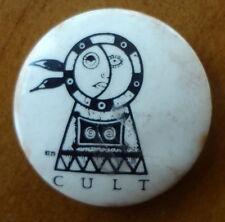 THE CULT DREAMTIME 1984 BADGE PIN IAN ASTBURY BILLY DUFFY