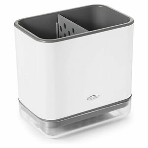 OXO Good Grips 2 Compartment Crock Style Sinkware Sponge Caddy Organizer, White