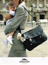 PUBLICITE ADVERTISING 035  1995  LONGCHAMP   marquinerie de luxe collection sac