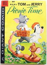 TOM & JERRY PICNIC TIME #1 VF DELL GIANT Silver Age Comic Book 1958