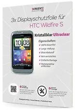 3x Schutzfolie für HTC Wildfire S Displayschutzfolie 3-Lagen Display Folie Clear