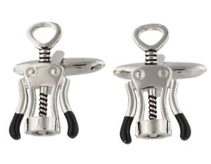 CUFFLINKS MAKIN CORKSCREW STYLE IN GIFT BOX PRESENT UK SELLER