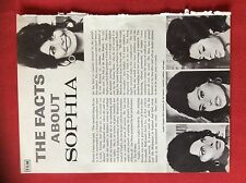 m2p ephemera 1960s article the facts about sophia loren
