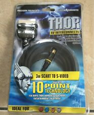 Thor Av interconexiones 3 M SCART a S-VIDEO TV DVD VCR alambres de cable de plomo