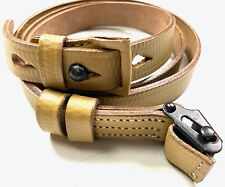WWII GERMAN K98 98K LEATHER RIFLE CARRY SLING-NATURAL