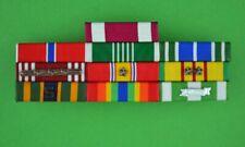 Army NCO mounted 10 Ribbon Bar - Vietnam War Service - clutch back