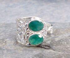 925 Corte Esmeralda Plata Anillo Ajustable Talla P/Q/R-8/9 R592 ~ silverwave * uk Jewellery