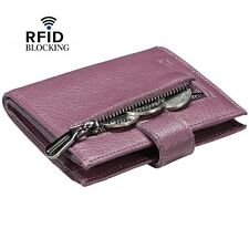 Reeple Women'S Rfid Blocking Small Compact Bifold Leather Pocket Wallet With Id
