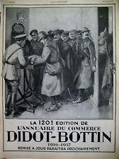 PUBLICITE DE PRESSE DIDOT BOTTIN ANNUAIRE DU COMMERCE DESSIN THEO. ROGER AD 1917