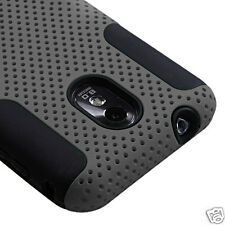 SAMSUNG GALAXY S II 2 SPRINT D710 R760 EPIC TOUCH 4G MESH HYBRID CASE GRAY