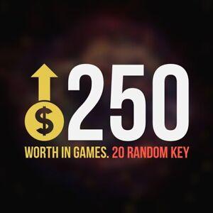 x20 Random Steam Key Premium Games (+$250) Video Delivery Fast (Region-Free)