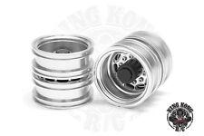 "Metal 1.75"" Rear Wheels (Oval Hole) (2 pcs) for Tamiya 1/14 R/C Tractor Trailer"