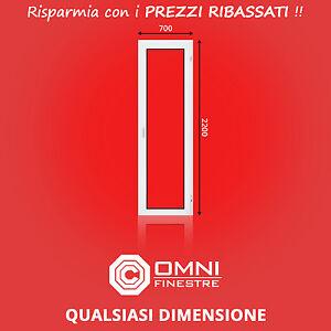 Porta Finestra in PVC su misura Anta Ribalta L-700x2200 mm con certificato