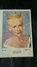 signed autograph by JANE HYLTON from SIR LANCELOT 1950's TV William Russell