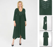 NEW Zaftique SATIN INTERLACED Dress EMERALD Green 2Z 4Z 6Z / 20 28 36 2X 4X 6X