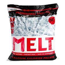 Snow Ice Melt Melter 50 lb. Bag Professional Strength Calcium Chloride Pellets
