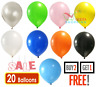"20 X Latex PLAIN BALOON BALLONS helium BALLOONS 10"" inch Party Birthday Decor VE"