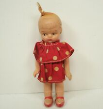 Painted Bisque Girl Toddler Doll Made in Japan