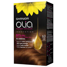 Garnier Olia Permanent Hair Color 6.3 Golden Light Brown Ammonia Free Hair Dye