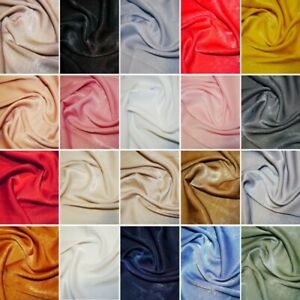 Silk Velvet Satin Look & Feel Fabric Bridal Dress Lightweight 150cm Wide