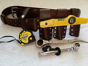 scaffolding 100% LEATHER BELT WITH 4 PCS FULL TOOLS SET 7.5 Tape Measure