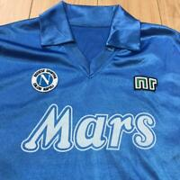 #10 MARADONA NAPOLI MARS NR ennerre vintage t shirt jersey trikot soccer serie A