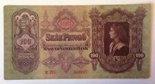 Billete De Hungría .100 Pengo. fechado 1930