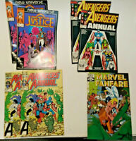 Lot of 7 Comic Books Mid 1980's Marvel Comics These Are Reader Copies