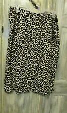 Terra & Sky Women's Leopard Slip Skirt 3X 24 26 - Animal Print - Nwt
