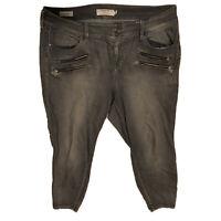 Torrid Denim Jegging Jeans Front Zip Pockets Three Button Gray Skinny 20S