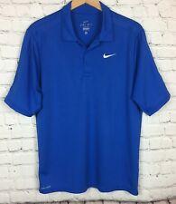 Nike Dri-Fit Polo Golf Shirt Mens Size Small Royal Blue ST